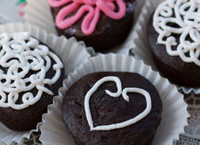 Valentine cupcakes Stock Photos