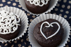Valentine cupcakes Royalty Free Stock Image