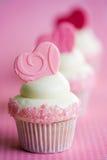 Valentine Cupcakes Image libre de droits