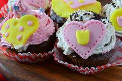 Valentine cupcakes close up Royalty Free Stock Image
