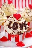 Valentine cupcakes Stock Photos