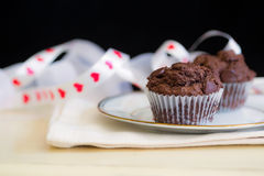 Valentine cupcakes Stock Photography