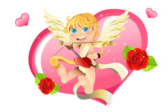Valentine cupid Royalty Free Stock Images