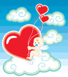 Valentine cupid Stock Images