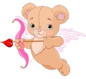 Valentine Cupid Bear Fotografia de Stock