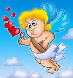 Valentine Cupid with bubble maker Stock Image