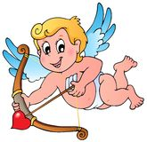 Valentine Cupid theme 1 Stock Photo