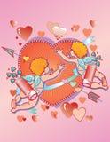 Valentine Cupids Stock Photo
