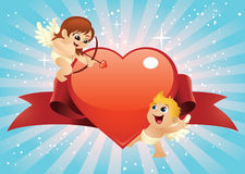 Valentine Cupids Stock Photo