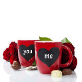Valentine cups Royalty Free Stock Image