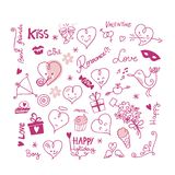 Valentine Cute Elements Stock Image