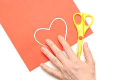 Valentine czerwony serce Zdjęcia Stock
