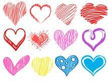 Valentine& x27; día de s Corazones Fotografía de archivo libre de regalías