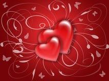 valentine d'amour de 07 cartes Photos stock