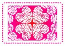 valentine d'amour de carte Image stock