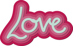Valentine 3d Love Word Stock Images