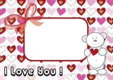 Valentine d'ours de nounours Image libre de droits