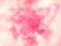 Valentine-dag bokeh Stock Afbeeldingen