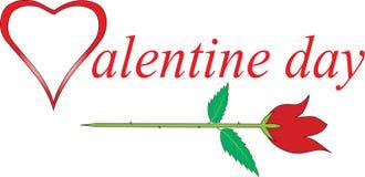 Valentine-dag met de rozen Royalty-vrije Stock Fotografie