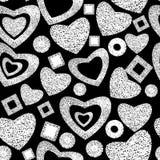 Valentine-dag naadloos patroon als achtergrond stock afbeelding