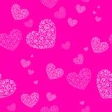Valentine-dag naadloze achtergrond met harten Stock Fotografie