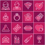 Valentine-dag, pictogramreeks Stock Foto's