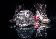 Valentine-dag voor soldeersel en leger Stock Foto
