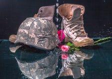 Valentine-dag voor soldeersel en leger Stock Afbeeldingen
