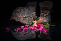 Valentine-dag voor soldeersel en leger Stock Fotografie
