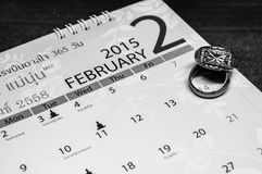 Valentine-dag zwart-witte textuur en achtergronden Stock Foto's