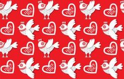 Valentine-dagpatroon Stock Foto's