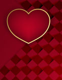 Valentine Dark Background Illustration Stock
