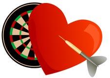 Valentine darts Royalty Free Stock Image