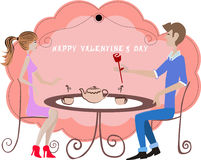 Valentine date Stock Photo