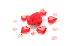 Valentine day. The saint Valentine day decoration Royalty Free Stock Image