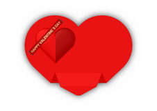 Valentine day. Papper card wish Royalty Free Stock Image