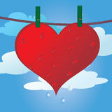 Valentine day. Red Love Hearts Stock Photo