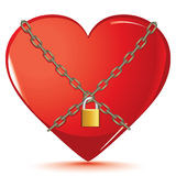 Valentine day. Red Love Hearts Stock Photography