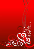 Valentine day. Red Valentine day background, vector illustration royalty free illustration