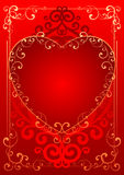 Valentine Day. Valentines greeting card, vector illustration Royalty Free Stock Images