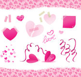 Valentine day. Vector elements for valentine day Royalty Free Stock Image