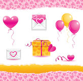 Valentine day. Vector elements for valentine day Royalty Free Stock Photography