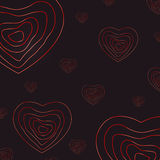 Valentine Day Abstract Heart Background illustration de vecteur