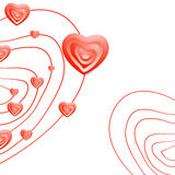 Valentine Day Abstract Heart Background Stock Foto's