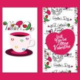 Valentine Day affisch Royaltyfri Foto
