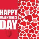 Valentine Day avec l'image de vecteur de fond de coeurs Photo libre de droits
