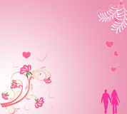 Valentine day background. With floral, harts Royalty Free Stock Image