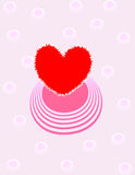 Valentine day background. Heart with ornament for design Stock Photo