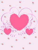 Valentine day background. Abstract vector illustration with heart Royalty Free Stock Photos
