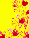 Valentine day background. Abstract vector illustration with hearts Stock Photos
